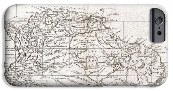 Finds A Way iPhone Cases - 1780 Raynal and Bonne Map of Northern South America iPhone Case by Paul Fearn