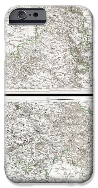 1797 Tardieu Map of Champagne France iPhone Case by Paul Fearn