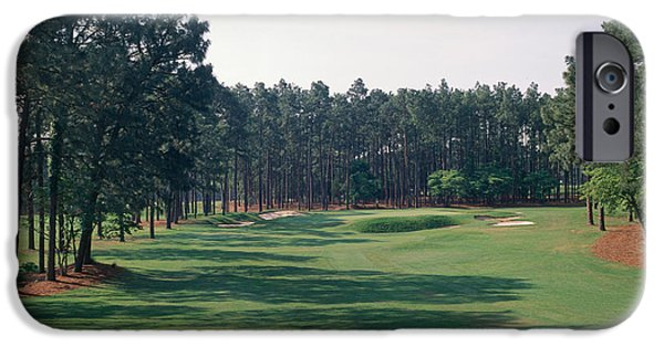 Green Lawns iPhone Cases - 17th Hole At Golf Course, Pinehurst iPhone Case by Panoramic Images