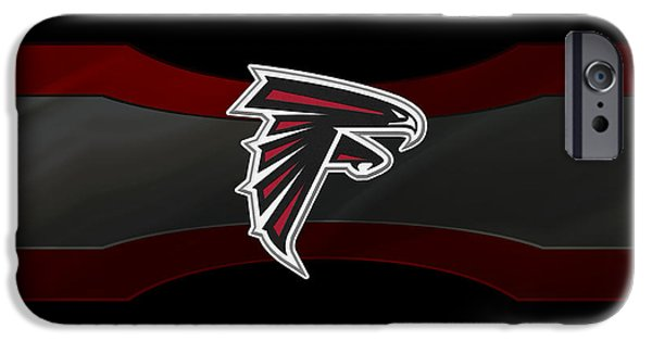 Falcon iPhone Cases - Atlanta Falcons iPhone Case by Joe Hamilton