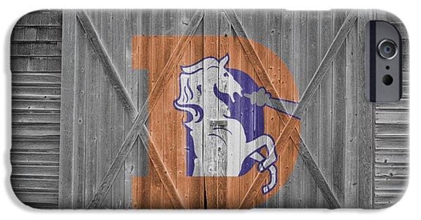 Broncos iPhone Cases - Denver Broncos iPhone Case by Joe Hamilton