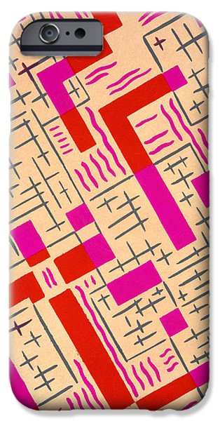 Abstract Forms iPhone Cases - Design from Nouvelles Compositions Decoratives iPhone Case by Serge Gladky
