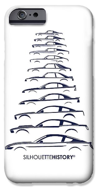 Ford iPhone Cases - Ford Mustang SilhouetteHistory iPhone Case by Gabor Vida