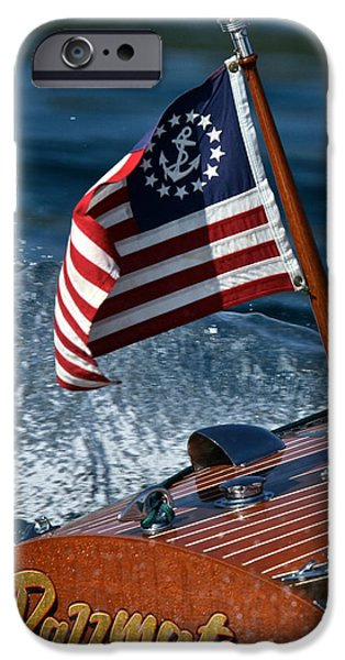 Mahogany Red iPhone Cases - Stars and Stripes iPhone Case by Steven Lapkin