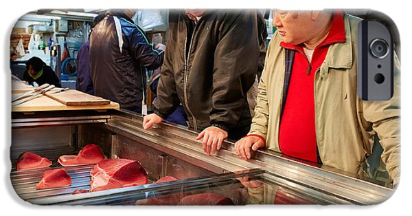Negotiating iPhone Cases - Tokyo Fish Market iPhone Case by Marco Brivio
