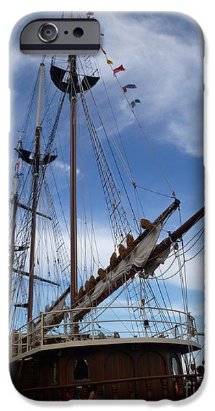 Tall Ship iPhone Cases - 1812 Tall Ships Peacemaker iPhone Case by Lingfai Leung