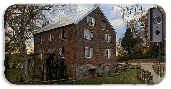 Grist Mill iPhone Cases - 1823 North Carolina Grist Mill iPhone Case by Adam Jewell