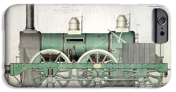Steam Locomotive iPhone Cases - 1843 Locomotive Luggage Engine iPhone Case by Jon Neidert