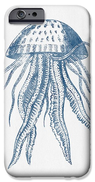 Invertebrates iPhone Cases - 1844 Octopus Ink Drawing iPhone Case by Aged Pixel