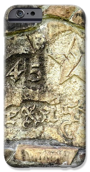 1845 Republic of Texas - Carved in Stone iPhone Case by Ella Kaye Dickey