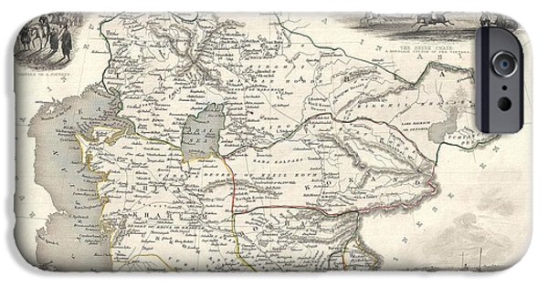 Jordan Mixed Media iPhone Cases - 1851 Asia Map iPhone Case by Dan Sproul