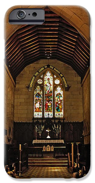 1865 - St. Jude's Church  - Interior iPhone Case by Kaye Menner