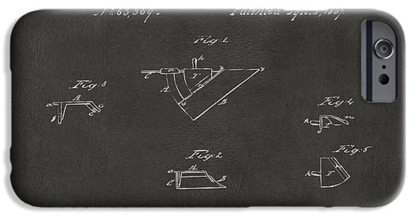 Negro iPhone Cases - 1867 John Deere Plow Irons Patent Gray H iPhone Case by Nikki Marie Smith