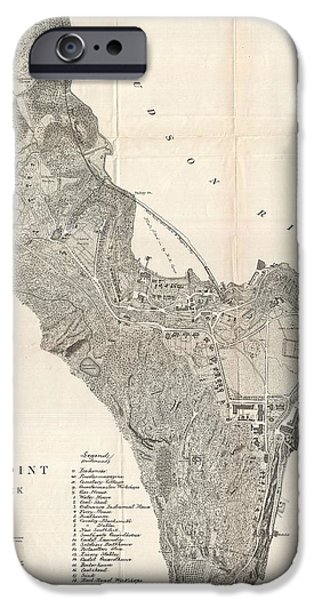 Hudson River iPhone Cases - 1883 West Point Map iPhone Case by Dan Sproul