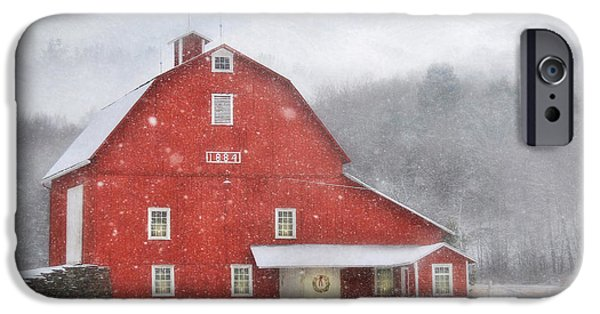 Christmas Holiday Scenery iPhone Cases - 1884 Christmas iPhone Case by Lori Deiter