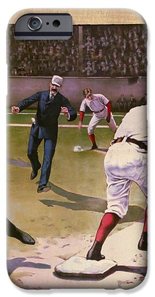 1898 BASEBALL -  AMERICAN PASTIME  iPhone Case by Daniel Hagerman