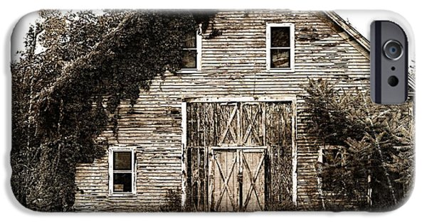 Old Barn iPhone Cases - 18th Century Barn iPhone Case by Marcia Lee Jones