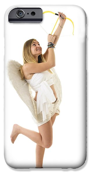 Freedom Party iPhone Cases - Cupid the god of desire iPhone Case by Ilan Rosen