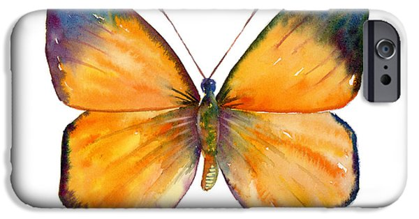 Moth iPhone Cases - 19 Delias Anuna Butterfly iPhone Case by Amy Kirkpatrick