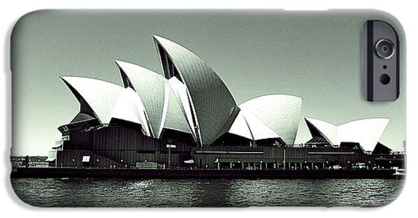 White House Pyrography iPhone Cases - Sydney opera house iPhone Case by Girish J