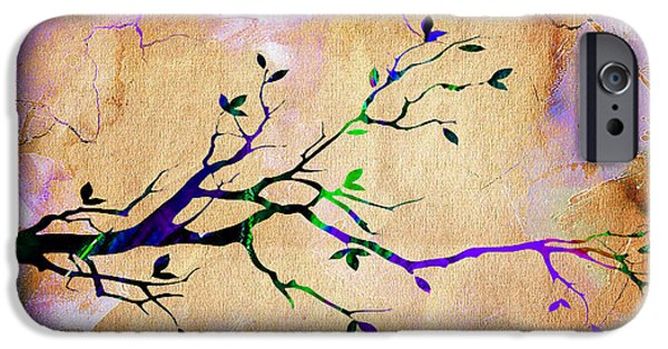 Backgrounds iPhone Cases - Tree Branch Collection iPhone Case by Marvin Blaine