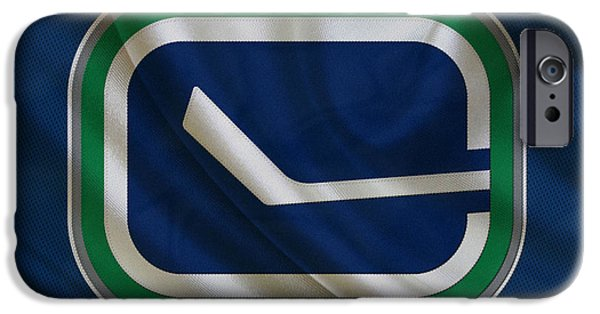 Santa iPhone Cases - Vancouver Canucks iPhone Case by Joe Hamilton