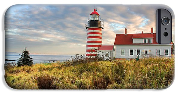 West Quoddy Head Lighthouse iPhone Cases - West Quoddy Head Lighthouse iPhone Case by Jack Schultz