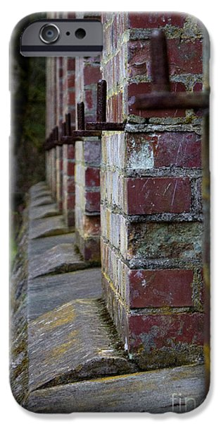 Burned Clay iPhone Cases - 1900s Brick Wall iPhone Case by Deanna Proffitt