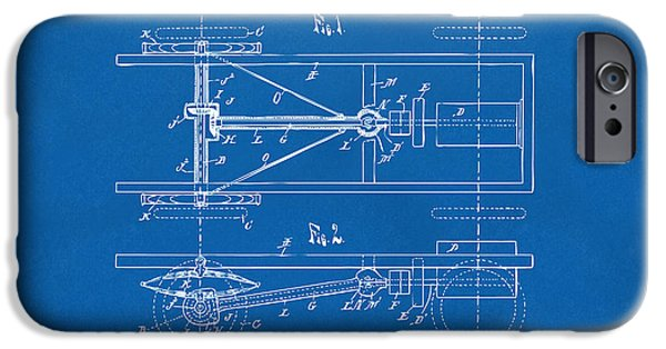 Model T iPhone Cases - 1903 Henry Ford Model T Patent Blueprint iPhone Case by Nikki Marie Smith