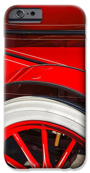 Pope iPhone Cases - 1903 Pope Hartford B Wheel Abstract iPhone Case by Jill Reger