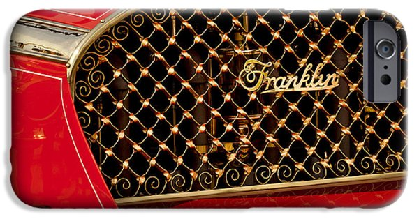 1904 iPhone Cases - 1904 Franklin Open Four Seater Grille Emblem iPhone Case by Jill Reger