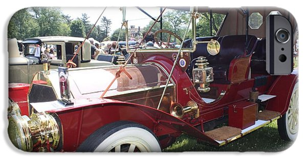 Automotive iPhone Cases - 1909 Pierce Arrow Double Roadster iPhone Case by John Telfer