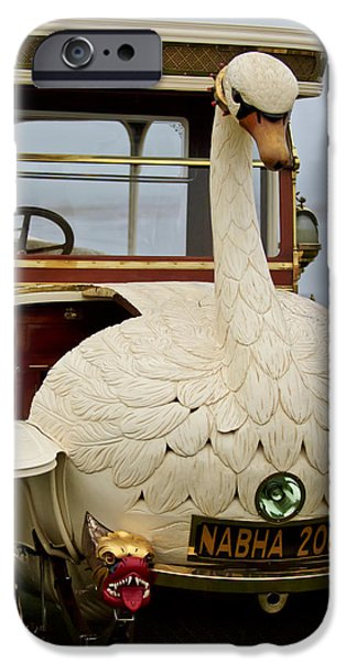 1910 Brooke Swan Car iPhone Case by Jill Reger