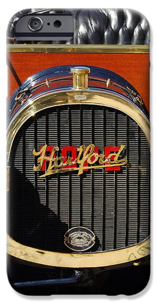 Pope iPhone Cases - 1910 Pope Hartford Model T Grille Emblem iPhone Case by Jill Reger