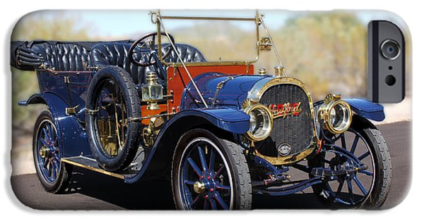 Pope iPhone Cases - 1910 Pope Hartford Model T iPhone Case by Jill Reger