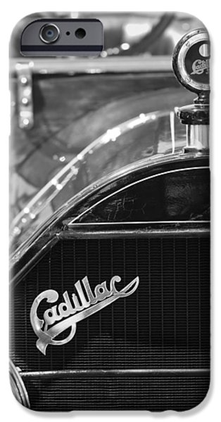 1911 Cadillac Roadster Grille and Hood Ornament iPhone Case by Jill Reger