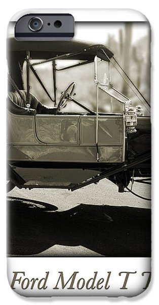 1911 Ford Model T Torpedo iPhone Case by Jill Reger