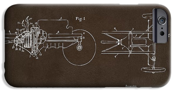 Model T iPhone Cases - 1911 Henry Ford Transmission Patent Espresso iPhone Case by Nikki Marie Smith