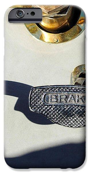 1911 Pope Hartford Model W 4 Cylinder 50 HP 7 Passenger Brake-Clutch Pedals iPhone Case by Jill Reger