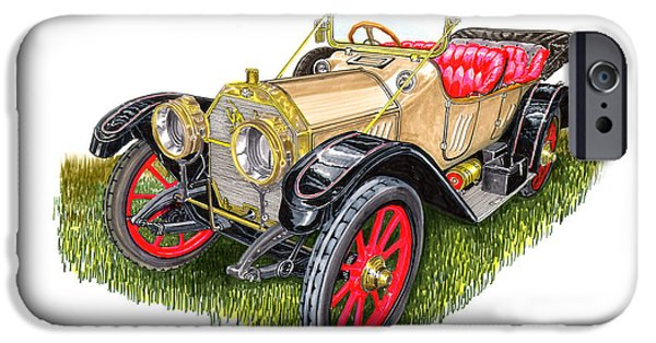 First Term iPhone Cases - 1912 Oldsmobile Defender iPhone Case by Jack Pumphrey