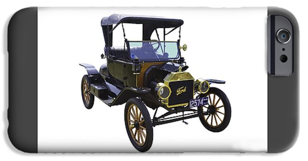 Ford Model T Car iPhone Cases - 1914 Model T Ford Antique Car iPhone Case by Keith Webber Jr