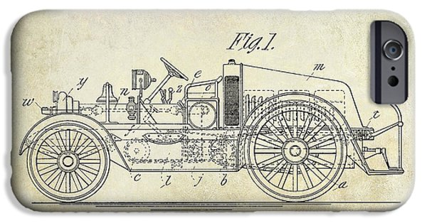 1916 Photographs iPhone Cases - 1916 Automobile Fire Apparatus Patent Drawing iPhone Case by Jon Neidert
