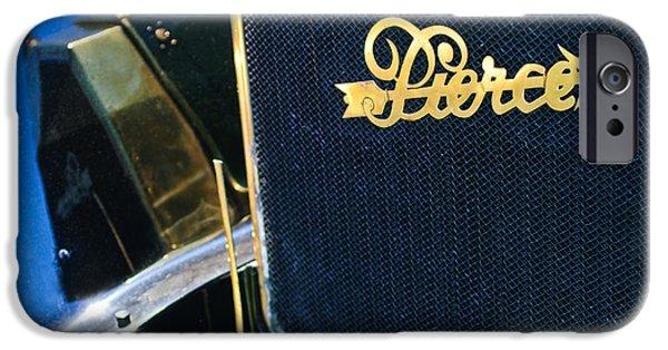 1916 Photographs iPhone Cases - 1916 Pierce-Arrow 48 Phaeton Grille Emblem iPhone Case by Jill Reger