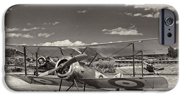 World War One Photographs iPhone Cases - 1916 Sopwith Pup Airplane On Airfield iPhone Case by Keith Webber Jr