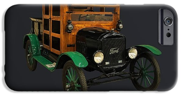1910s Poster Art iPhone Cases - 1917 Ford Model T truck iPhone Case by Chris Flees