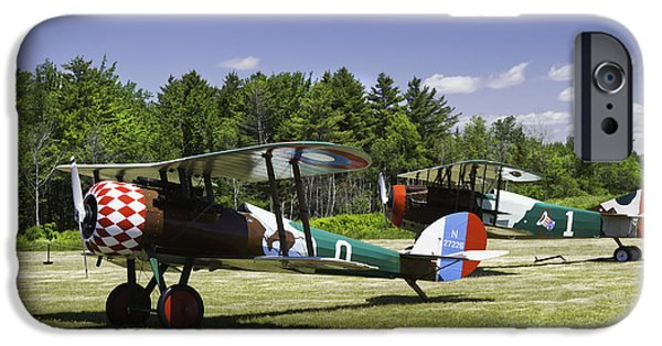 World War One Photographs iPhone Cases - 1917 NIEUPORT 28C.1 Fighter World War One Photo iPhone Case by Keith Webber Jr