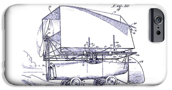 Airliner iPhone Cases - 1919 Airship Patent Drawing Blueprint iPhone Case by Jon Neidert