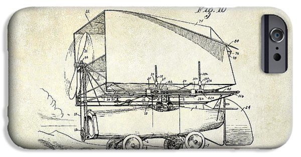 Vintage Plane iPhone Cases - 1919 Airship Patent Drawing iPhone Case by Jon Neidert