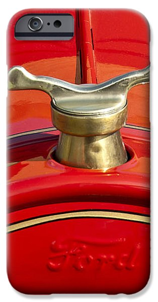 1919 Ford Volunteer Fire Truck iPhone Case by Jill Reger