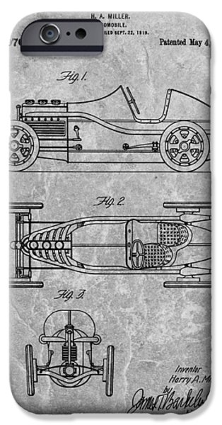 Mechanics Drawings iPhone Cases - 1920 Automobile Patent iPhone Case by Dan Sproul